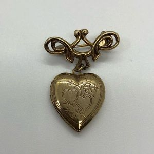 Locket Brooch vtg